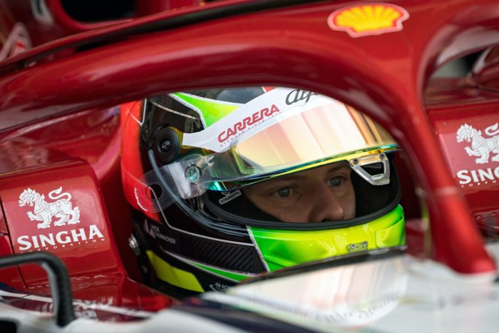 Mick Schumacher during testing for Ferrari in Bahrain. Picture credit: AFP