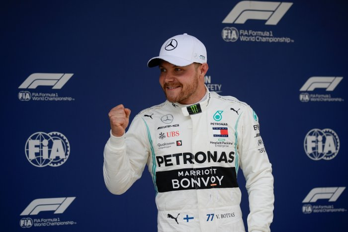 Valtteri Bottas took pole position for the Chinese Grand Prix. Picture credit: AFP