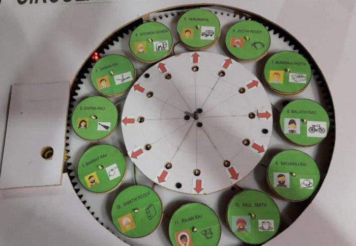 The circular voting machine created by Dinesh K Avnekar.