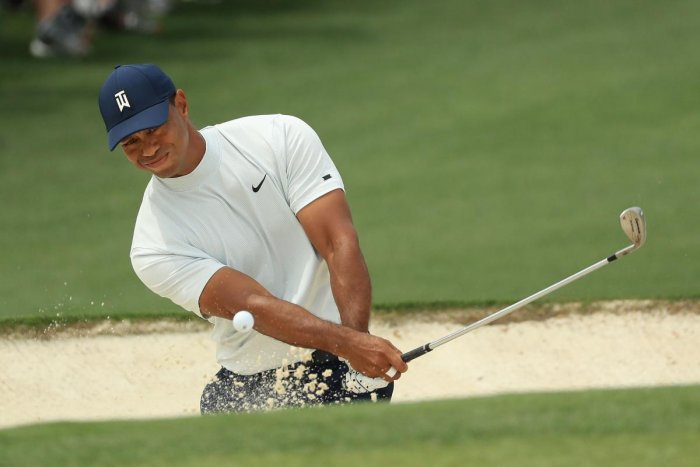 Tiger Woods in action in the second round of the Masters.