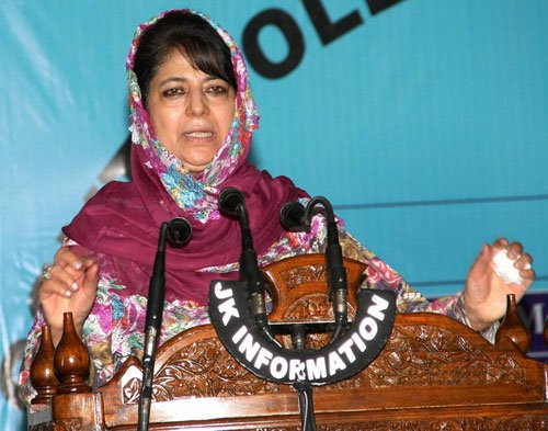 Mehbooba ask PDP cadres to work for creating amicable atmosphere