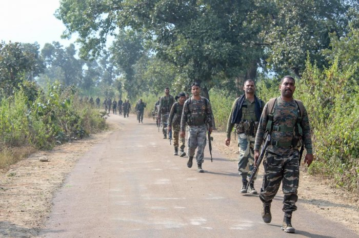 Three Maoists and a CRPF jawan were killed in an encounter in Jharkhand's Giridih district on Monday, officials said. PTI file photo