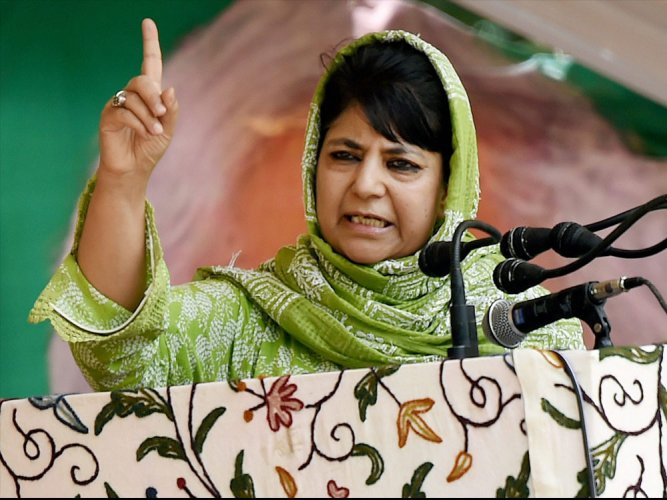 """If Delhi tries to break PDP then the outcome will be dangerous,"" Mehbooba told reporters on the occasion of Martyr's Day function at Martyr's graveyard in Srinagar's old city. (PTI File Photo)"