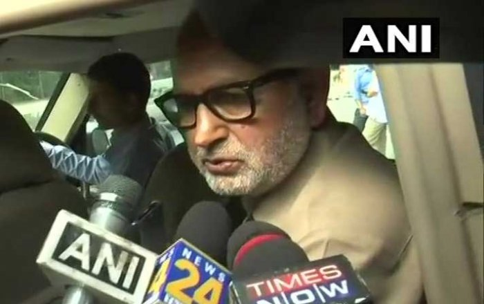 """There was a perception that Kashmir betrays Delhi, but we have proved it is Delhi which betrays Kashmir. The BJP took the decision to end the alliance for securing its interests for 2019 Lok Sabha elections,"" senior PDP leader and outgoing Works Minister Nayeem Akhtar said. ANI photo"