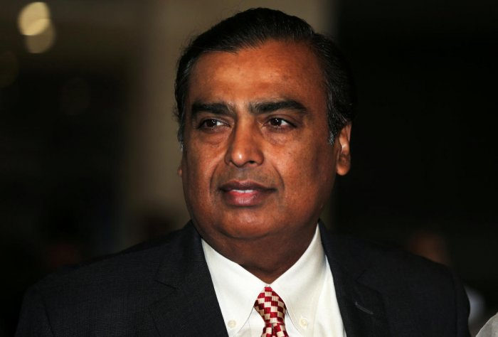 FILE PHOTO: Mukesh Ambani, Chairman and Managing Director of Reliance Industries, arrives to address the company's annual general meeting in Mumbai, India July 5, 2018. REUTERS/Francis Mascarenhas/File Photo