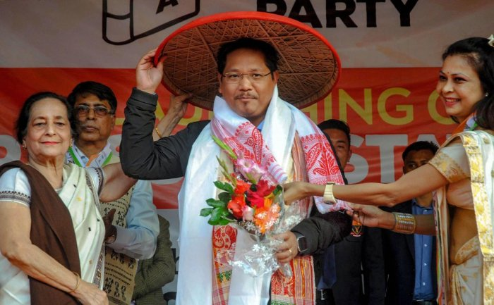 National People's Party supremo and Meghalaya Chief Minister Conrad K Sangma. (PTI File Photo)