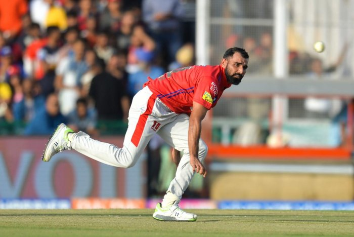 CONSISTENCY NEEDED: After leaking 43 runs in his previous game against RCB, Kings XI Punjab's lead pacer Mohammed Shami will be gunning for an improved show against Rajasthan Royals. AFP
