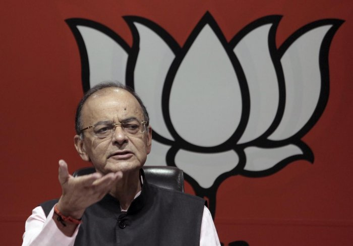 "In a series of tweets, Jaitley said, ""In Rahul Gandhi's politics, the Right to Free Speech includes the Right to Falsehood"". PTI File photo"