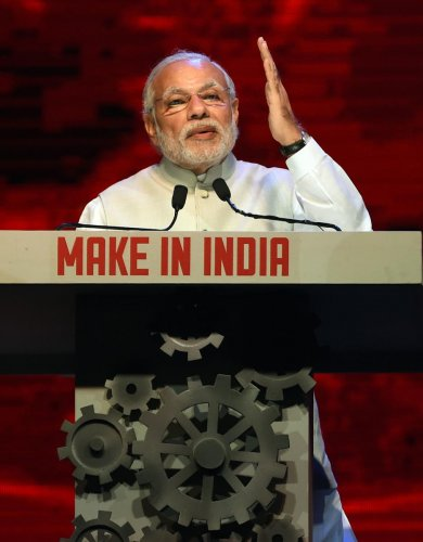 Prime Minister Narendra Modi speaks during the opening ceremony of 'Make in India Week' in Mumbai on February 13, 2016. AFP File Photo