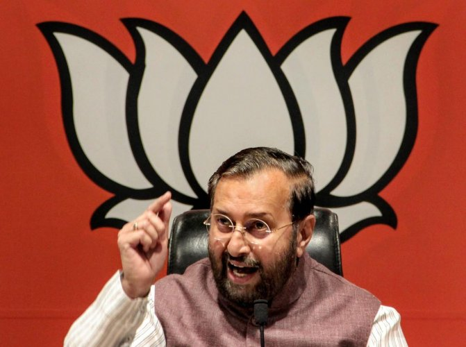 Union minister and Bharatiya Janata Party (BJP) leader Prakash Javadekar hit out at Gandhi at a press conference after the apex court said it had made no such observations as allegedly attributed to it by the Congress chief. PTI File photo