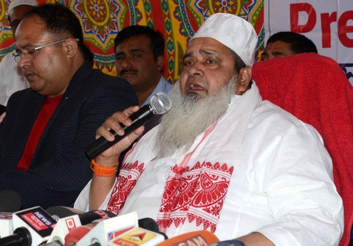 AIUDF chief Badruddin Ajmal in Guwahati. Photo by Manash Das, Guwahati
