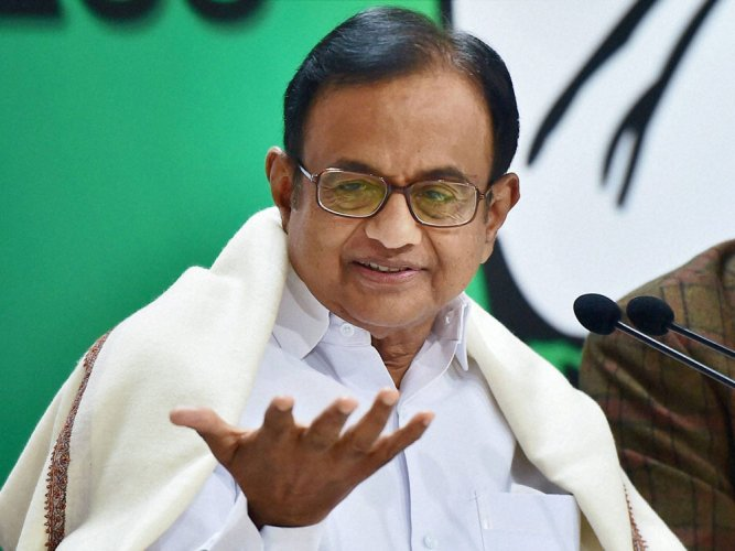 Congress leader P Chidambaram. PTI file photo