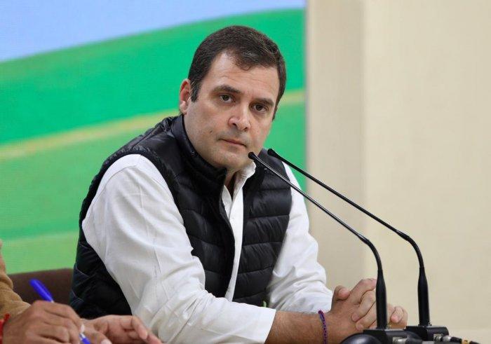 Congress chief Rahul Gandhi. (File Photo)