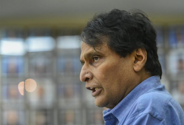 Civil Aviation Minister Suresh Prabhu has called for a review of issues related to struggling Jet Airways, including rising fares and flight cancellations. PTI photo