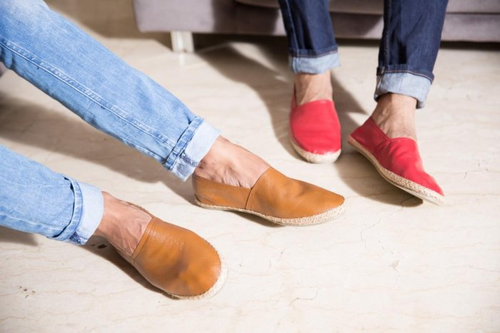 Men can team chinos with a pair of loafers to instantly score points for comfort and style.