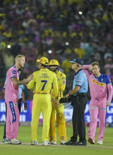 MS Dhoni's decision to walk up to the umpire and argue about a no-ball verdict was questioned by many from the cricketing fraternity. PTI File Photo