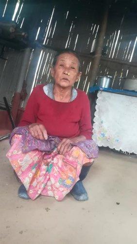 An elderly worker of Dooteriah Tea Garden.