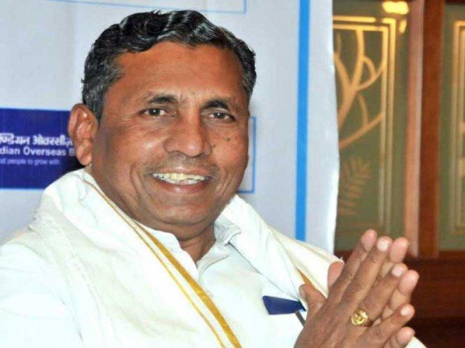 Sitting MP K H Muniyappa of the Congress. DH file photo