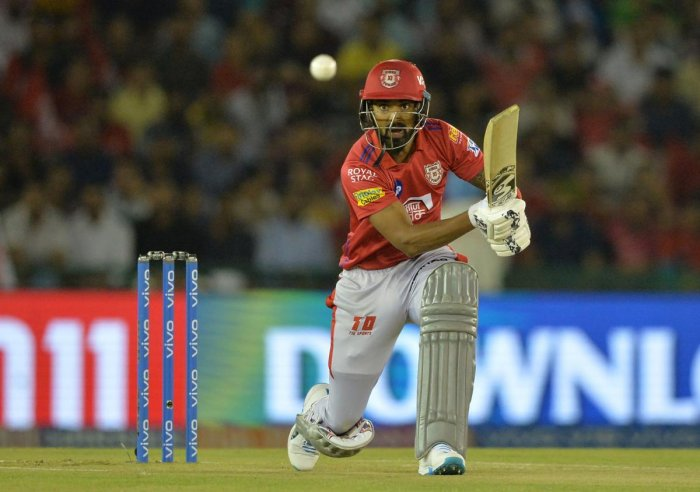 CLASSY: K L Rahul's 47-ball 52 guided KXIP to a challenging total of 182 against Rajasthan Royals in Mohali on Tuesday. AFP