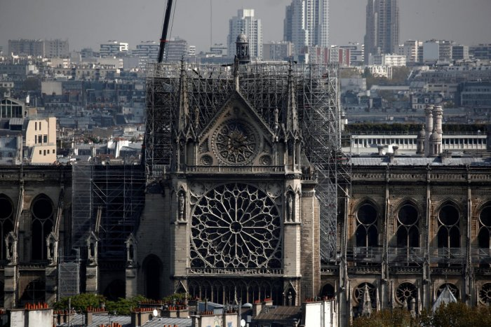 The French prime minister has announced an international architects' competition to rebuild the spire of Notre Dame Cathedral. Reuters Photo