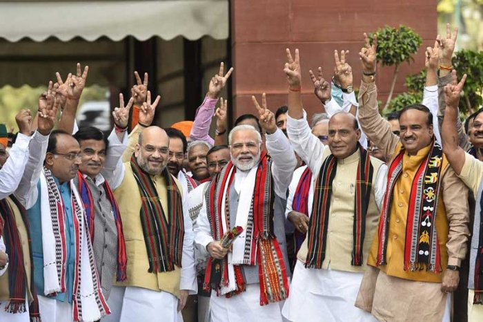The Narendra Modi-led NDA is likely to lose majority in the Lok Sabha if elections are held now, two opinion polls on Thursday said. (PTI File Photo)