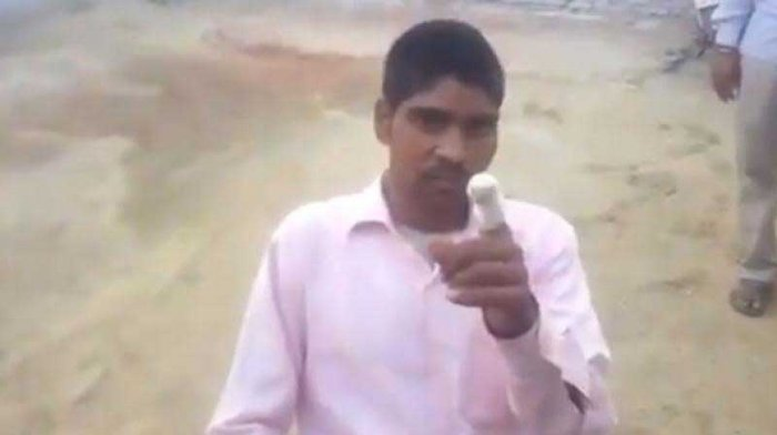 """In a video that has gone viral, Kumar is heard saying, """"I wanted to vote for the elephant, but I voted for the flower by mistake."""" (Screengrab)"""