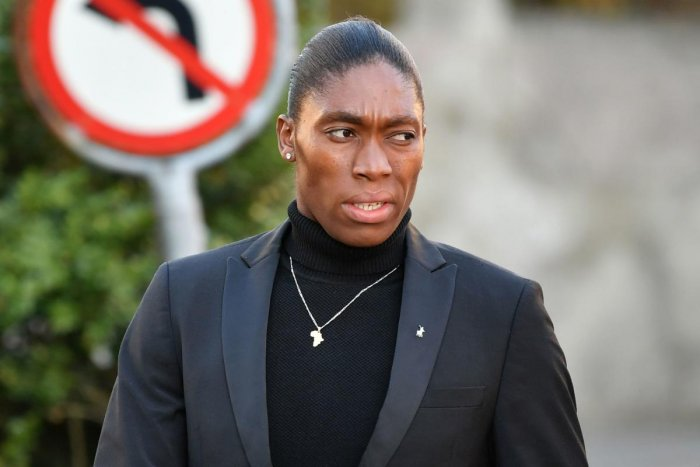 Caster Semenya arrives for the hearing in Lausanne.