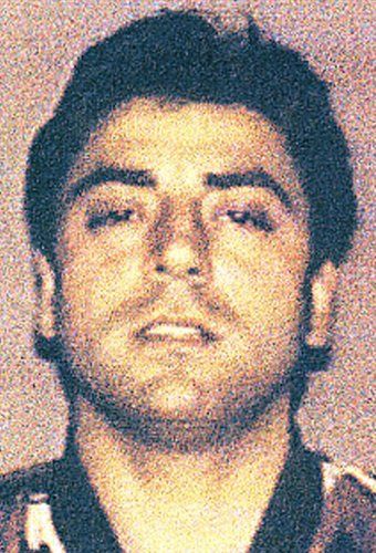 """(FILES) In this file handout photo released on February 7, 2008 by Italian Police shows Frank Cali, presumed Mafia member suspected of drug trafficking in Sicily and arrested in the operation codenamed """"Old Bridge on February 7, 2008. - Frank Cali, the Ga"""