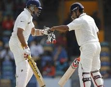 Laxman, Raina rescue India on day one against West Indies