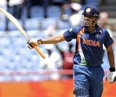 Raina's century powers India to 185 for five