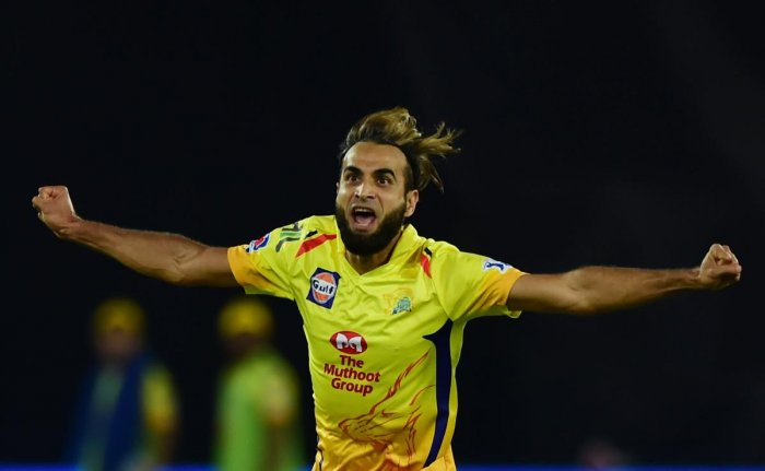 Imran Tahir's sprints and celebrations have become a known commodity at Chepauk now, as the 40-year-old has spun webs around many batsmen this season. PTI file photo