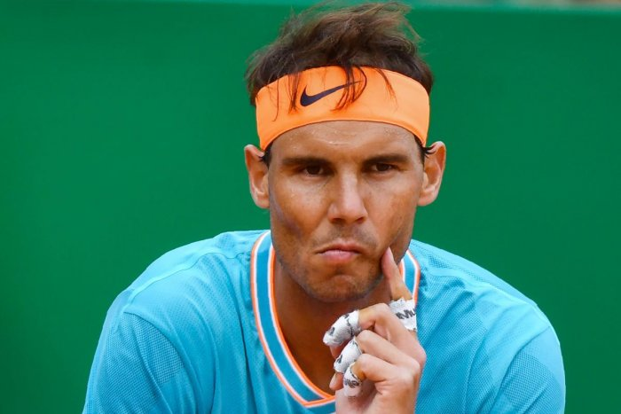 MULLING THINGS OVER: Rafael Nadal has been shell shocked by the defeat against Fabio Fognini in Monte Carlo Masters. AFP