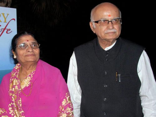 Advani's wife admitted in AIIMS