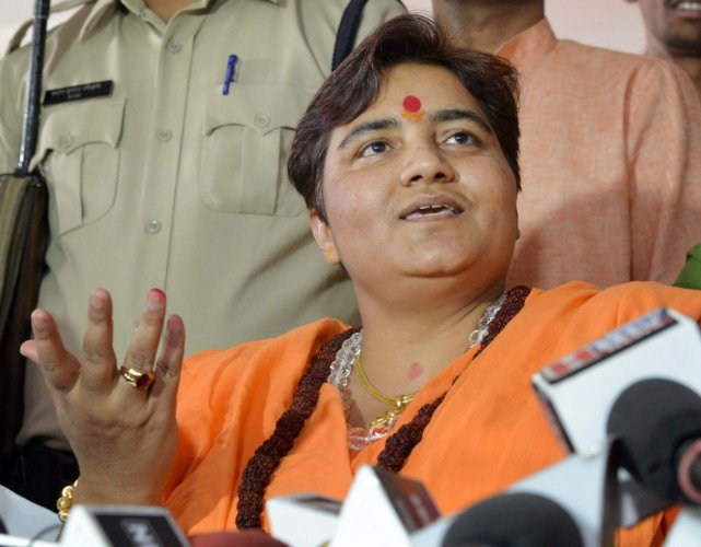"Thakur, out on bail in the blast case, had said she was ""proud"" of her participation in the demolition of the Babri Masjid."