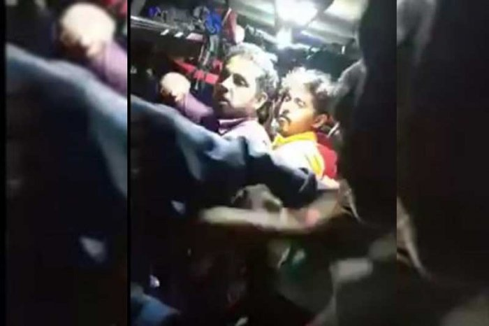 Photo from the assault on the bus
