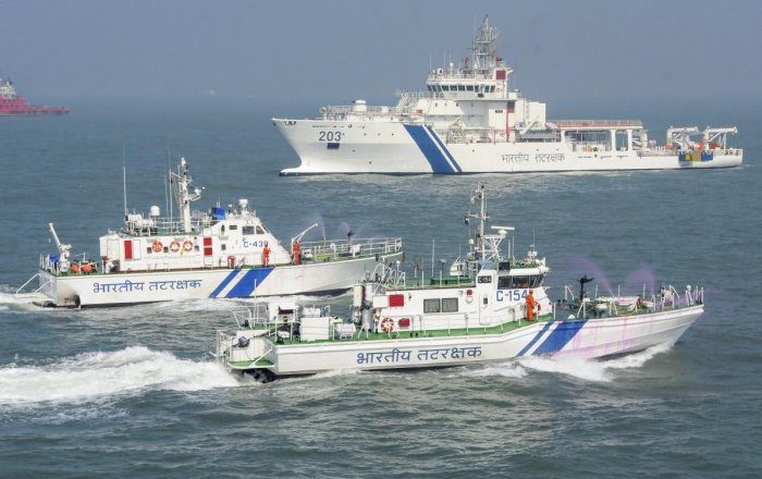 The Indian Coast Guard has beefed up surveillance and deployed more ships and aircraft for patrolling following a series of devastating blasts in Sri Lanka. (PTI File Photo)