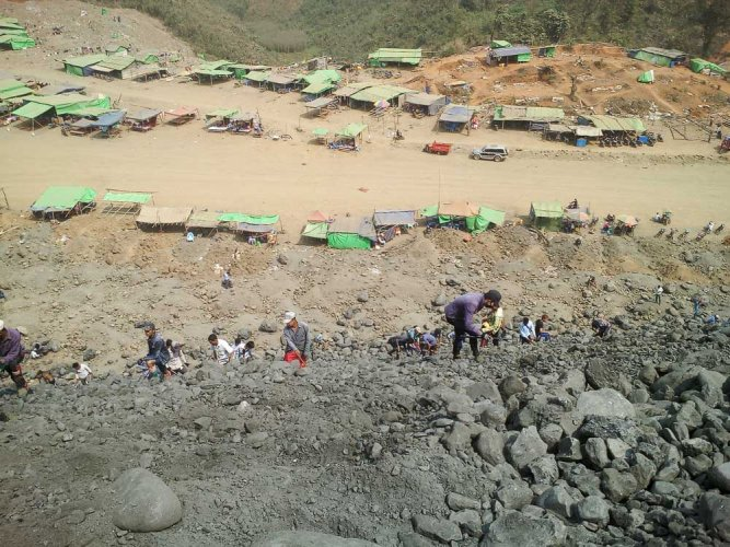 Deadly landslides and other accidents are common in the poorly regulated mines of Hpakant. File photo