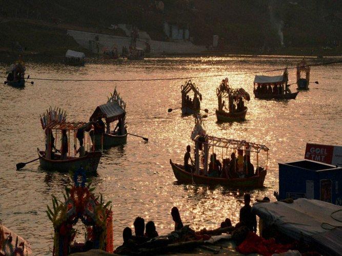 River Narmada originates at Amarkantak on the Madhya Pradesh-Chhattisgarh border where the Vindhya and Satpura mountain ranges meet. PTI file photo