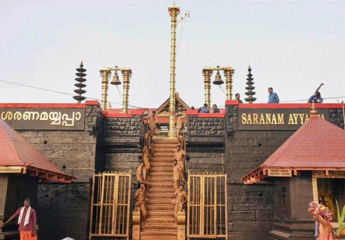 Sabarimala Ayyappa temple. PTI file photo