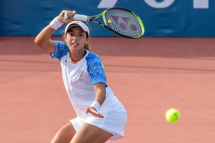 Stunner: Ankita Raina inflicted a shock defeat to Samantha Stosur in the Kunping Open on Wednesday. PTI File Photo.