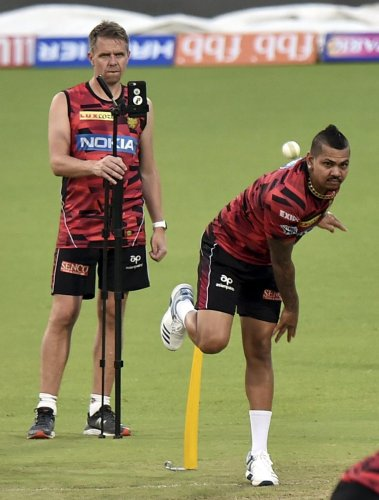 An injured Sunil Narine failed to make the West Indies World Cup squad. PTI File Photo