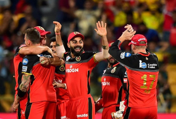 NEW ATTITUDE: RCB skipper Virat Kohli (centre) feels a refreshed approach has helped them three successive games. PTI