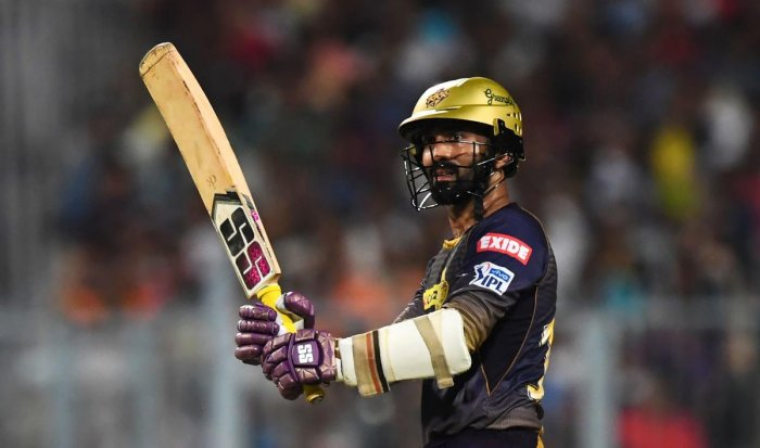 DISAPPOINTED: Kolkata Knight Riders' skipper Dinesh Karthik said his team wasn't able to close out some games this season. AFP