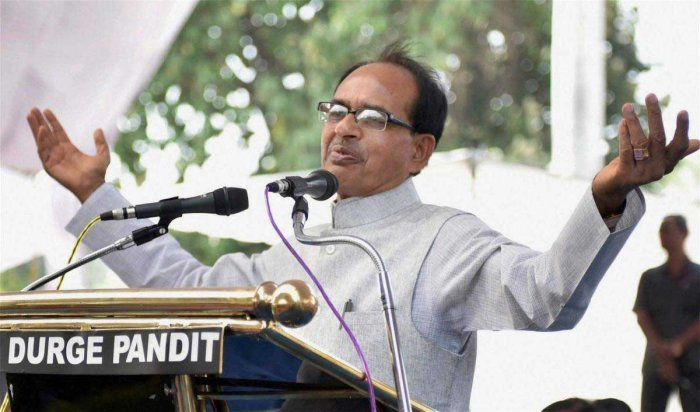 Former chief minister Shivraj Singh Chouhan threatened the Chhindwara collector for denying him permission to land the BJP leader's chopper after 5 pm two days ago. (PTI File Photo)