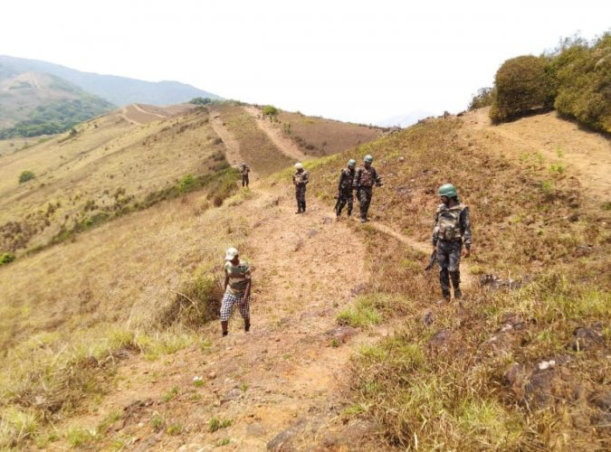 The Anti-Naxal Force carries out combing operations in Kodagu.