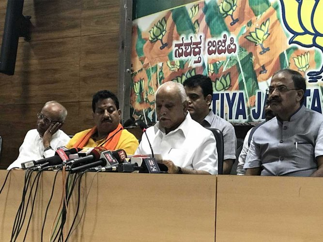 The BJP is facing resentment internally over its choice of candidates for the crucial bye-elections to the Kundgol and Chincholi assembly constituencies. (DH File Photo)