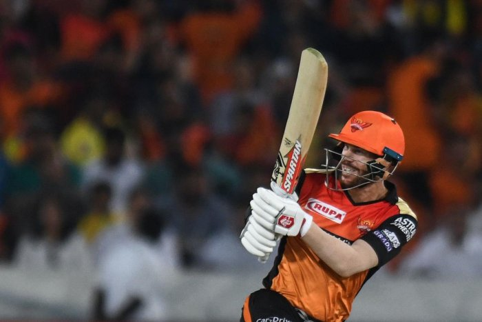 Sunrisers Hyderabad's David Warner, who has been the leading run-getter this season, will play his last game on Monday. AFP File Photo