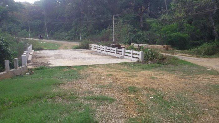 The new bridge in Ammatti, Siddapura taluk, which is yet to be inaugurated.