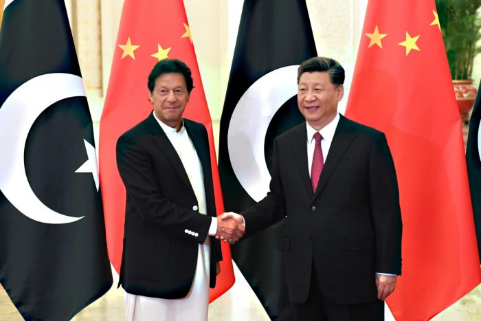 China's President Xi Jinping meets with Pakistan's Prime Minister Imran Khan in Beijing. Reuters photo