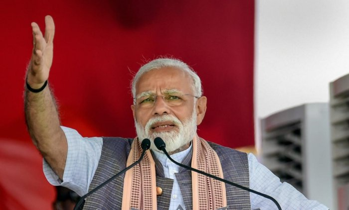 "Addressing an election rally here, Modi also slammed the Congress, alleging that the party wants a weak government which it can ""remote control"". PTI File photo"